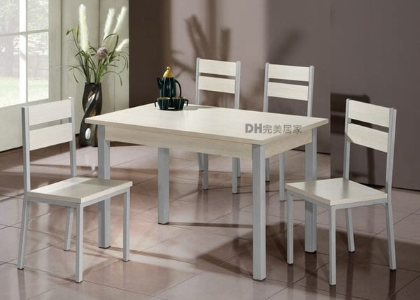 【DH】貨號Q601-3A《費爾》白橡餐椅組˙一桌四椅˙簡約設計˙白橡/胡桃兩色˙主要地區免運