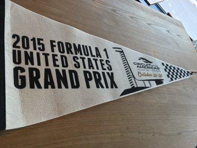 F1美國站限定款紀念旗(2015)