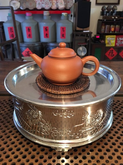 1980年代錫茶船形制圓滿手工製成潮汕文化 可以堂普洱茶