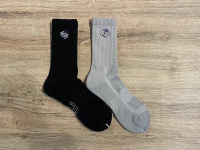 【MASS】Best Foot Friend BFF 電繡面具長襪 灰/黑
