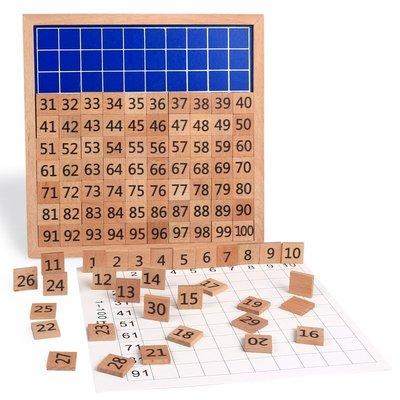 ❀Lexare❀蒙特梭利教具數學教具櫸木1-100數字連續板兒童早教數字玩具3-6歲