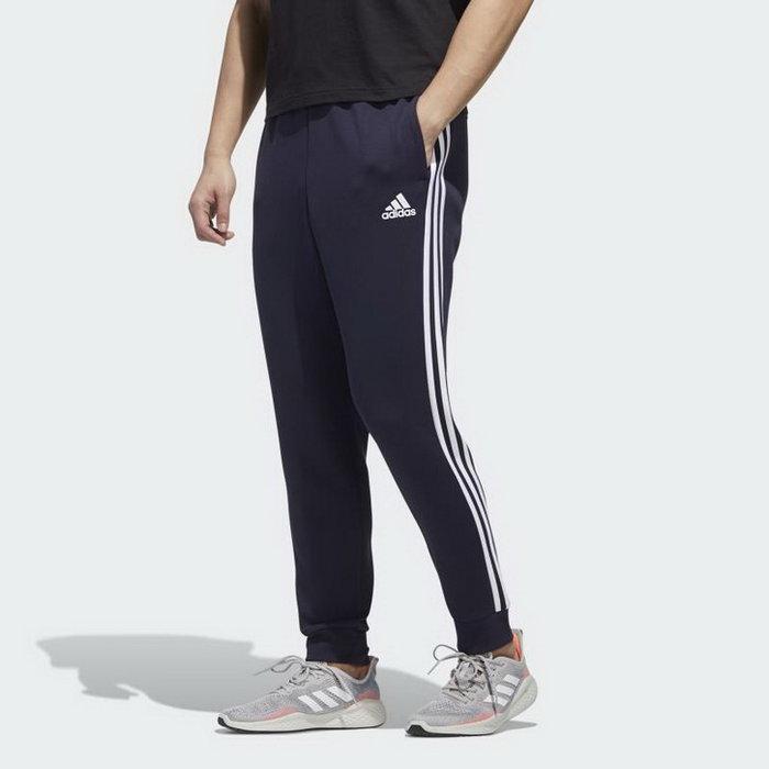 【Dr.Shoes 】Adidas ESSENTIALS 運動長褲 縮口褲 深藍 三條線 男款 GK0622