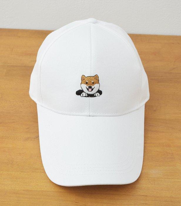 柴犬 刺繡球帽