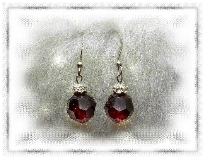 ※水晶玫瑰※ SWAROVSKI 10mm水晶珠 耳勾式耳環(DD330)~出清~三對免郵