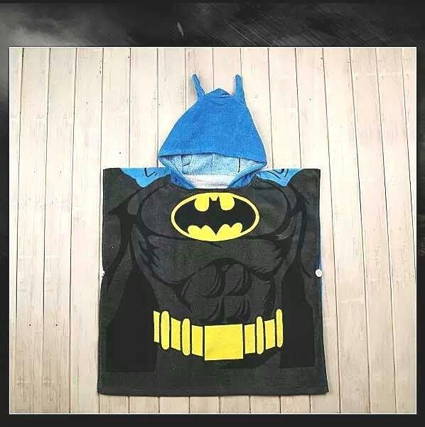 *ω*茱蒂*ω*  出口日本 迪士尼卡通動物造型浴巾浴袍沙灘毛巾披風/浴袍    蝙蝠俠/現貨