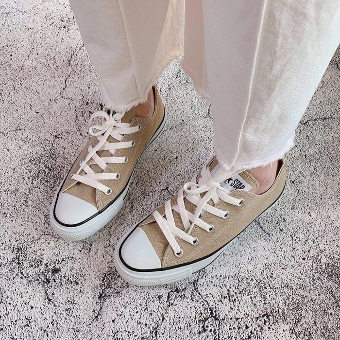 XinmOOn CONVERSE CANVAS ALL STAR COLORS 1CL129 機能 經典 卡其 奶茶色