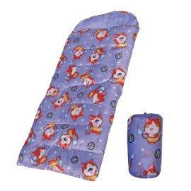 *大營家人造纖維睡袋*DJ-8009 妖怪手錶兒童睡袋-淡紫色~戶外休閒居家露營外宿好伙伴