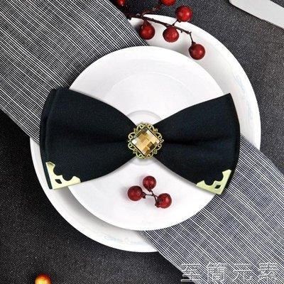卡吉米韓版時尚男士結婚金屬深藍色包角鑲...