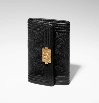【代購】Chanel boy card holder  荔枝皮 / 羊皮 卡片 零錢包  (免運)