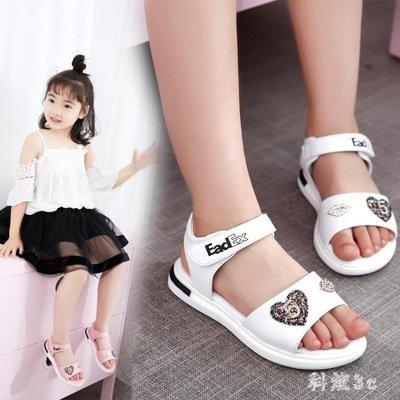 女童涼鞋大尺碼新款學生沙灘鞋韓版兒童鞋小女孩中大童 js6093