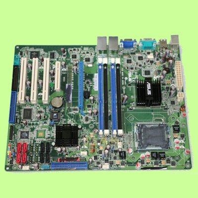 5Cgo【權宇】華碩 775 TS100-E5 伺服器主機板 P5BV-C/4L/千兆網卡 庫存裸裝新品 含稅會員扣5%