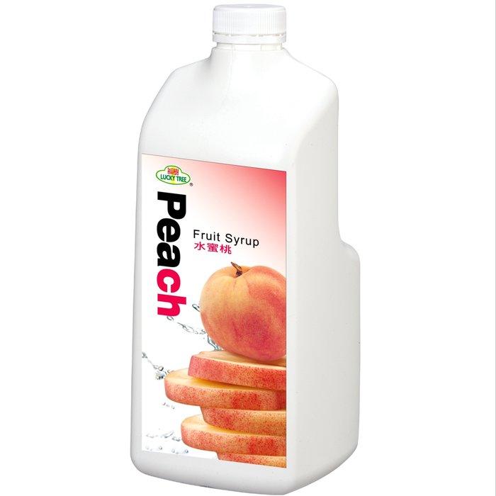 【綠盟】福樹牌水蜜桃濃糖果汁- 2.5kg/瓶--【良鎂咖啡精品館】