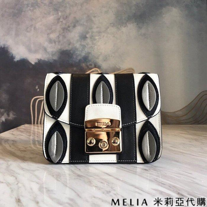 Melia 米莉亞代購 商城特價 數量有限 每日更新 19ss FURLA 芙拉 經典豬鼻包 單肩斜背包 黑白配色