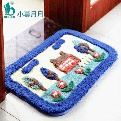 植絨吸水地墊踏腳墊臥室地毯衛生間浴室防滑門墊可機洗 YTL