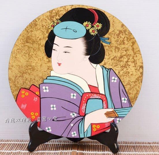【易發生活館】新品日本裝飾壁畫 禪意東方 出口日本手工漆畫,居家擺設 擺件浮世女漆畫108