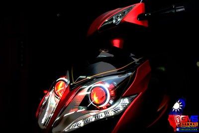 GAMMAS-HID 光陽 雷霆王 RACING KING RCK ABS GMS六代魚眼大燈 LED 光圈 天使眼