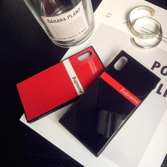 VIVO X20 手機殼 歐美潮牌 簡約字母 個性情侶 鋼化玻璃殼 鏡面玻璃 軟邊全包 方形殼 防摔抗震 外殼