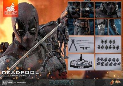 现货全新膠袋彩盒没有開封 HOTTOYS MMS505 VIP Secret Base 5周年誌慶 HT Deadpool 死侍 2 灰塵版 HOT TOYS
