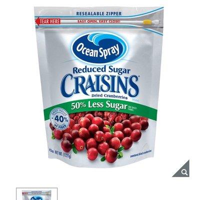 特價~OCEAN SPRAY 蔓越莓乾減糖配方 1221公克