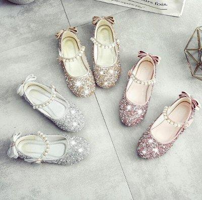 花童禮服鞋 女童單鞋 公主鞋 新款韓版平底皮鞋子 豆豆鞋 時尚瓢鞋 懶人鞋 24-37碼—莎芭