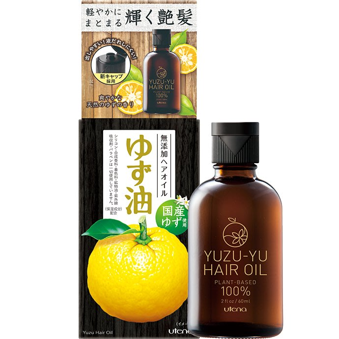 日本 UTENA 佑天蘭 柚子護髮油 ゆず油 無添加ヘアオイル 60ml 【Mr.QQ】