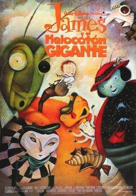 飛天巨桃歷險記-James And The Giant Peach (1996)原版電影海報