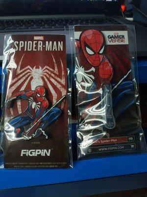 PS4 pro 蜘蛛俠 spiderman 限定贈品 Marvel 襟章 胸針 Figpin