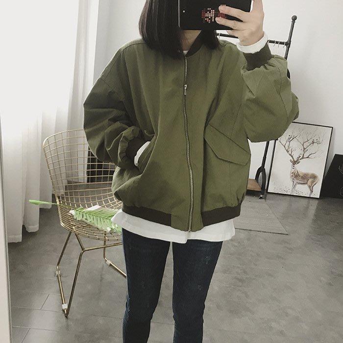 韓國連線 飛行外套 Ma1 夾克 棒球外套 防風外套 大衣 上衣 女生衣著 寬鬆 韓版 衣服 女裝 復古 簡約 韓妞