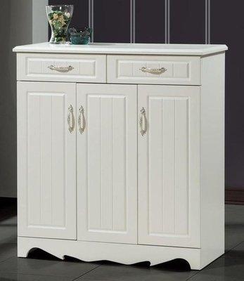 【DH】商品編號A508-4商品名稱莉莎100cm白色鞋櫃。簡約雅緻經典設計。主要地區免運費