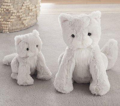 預購 美國嬰幼兒精品 Pottery Barn Baby 可愛小貓咪 Kitty Plush 小款 生日禮 聖誕禮