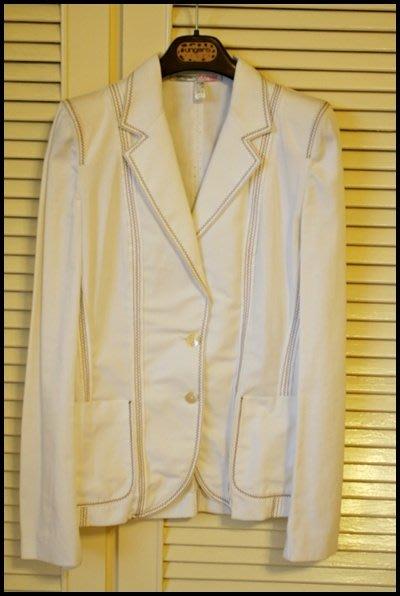 敦南boutique購入真品《Emanuel Ungaro》 Fuchsia經典白色西裝外套