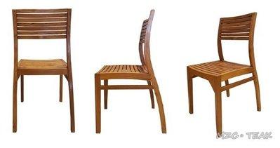 【美日晟柚木家具】CH 08 柚木書桌椅.餐椅 休閒椅.全柚木家具-柚木坐椅(全原木)