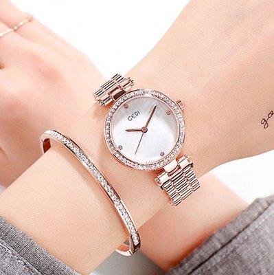新品鋼帶女士腕表網紅女表潮流時尚百大款條釘紫色玫瑰金漂亮石英za12
