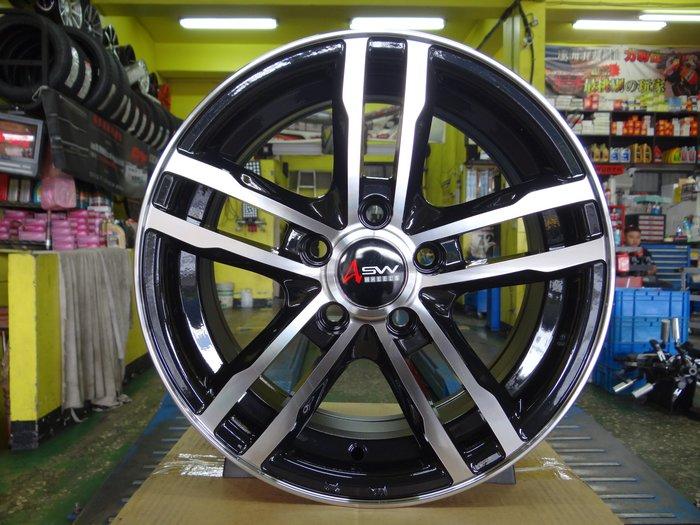 {順加輪胎}GH208 14吋5孔100 黑底車面鋁圈 EXSIOR PREMIO MK3 NEW ALTIS POLO