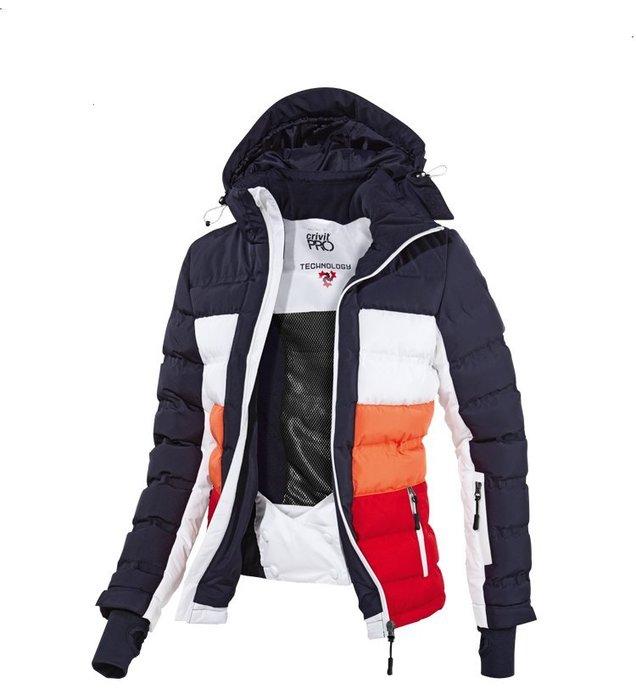 OUTLET代購 CRIVIT德國專業戶外滑雪服 情侶衝鋒衣 RECCO雪崩救援系統 防寒保暖 加絨防風 透氣 雪地專用
