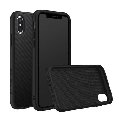 犀牛盾 iPhone X / XS / XR / XS MAX SolidSuit 防摔背蓋手機殼 - 碳纖維