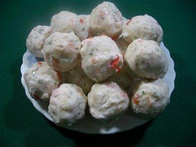 盧師傅火鍋料批發-關東煮,滷味用--草蝦丸(雪魚漿煉製品,加入超多草蝦,有濃濃鮮蝦美味)