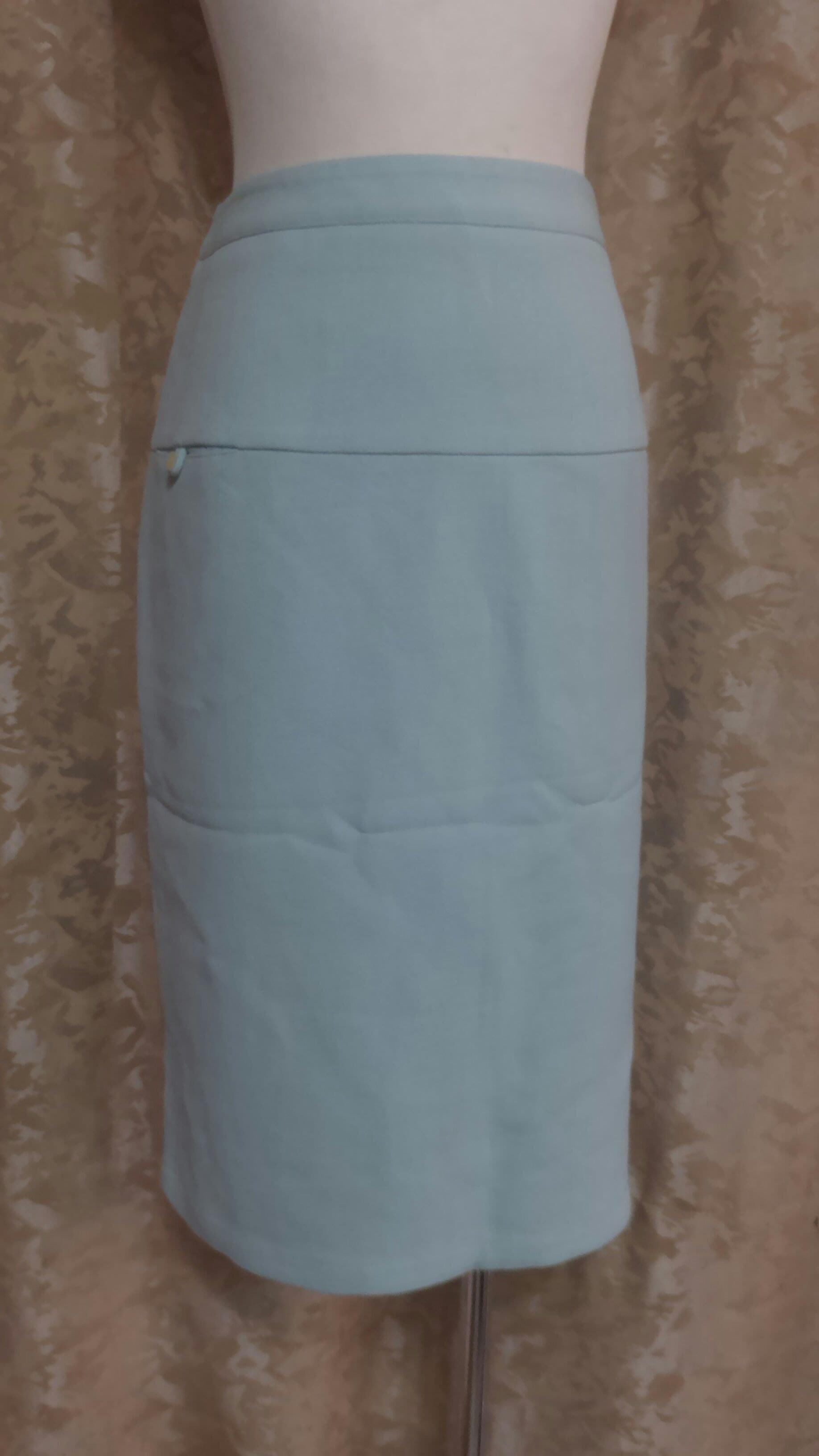 ~麗麗ㄉ大碼舖~大尺寸#6(30吋)淺綠色側拉鍊式雙開岔彈性短裙~
