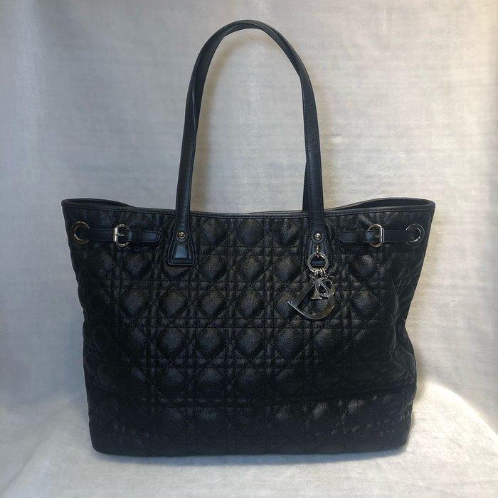 [艾飛兒名牌精品]Christian Dior 菱格紋購物包 黑色