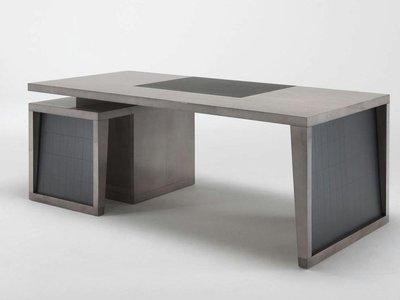 【品傢俱】近原裝 Hugues Chevalier │造型書桌 辦公桌 電腦桌 實木書桌 工作桌 │另有Poliform
