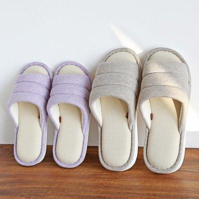家居鞋 棉鞋春夏季棉拖鞋男女情侶室內防滑軟底家居家用四季棉麻開口一字拖鞋