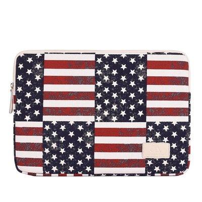 手拿包帆布電腦包-美國國旗印花休閒男女包包73vy21[獨家進口][米蘭精品]