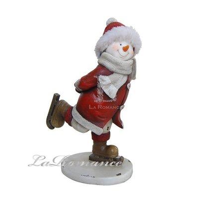 【芮洛蔓 La Romance】德國 Heidi 童趣家飾 - 聖誕童話紅衣滑冰雪人 (小) / 交換禮物