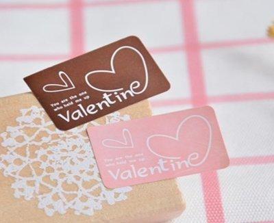 小原屋◕‿◕烘焙包裝-愛心情人節貼紙 封口貼 包裝袋 點心盒 烘培貼紙 10張200枚