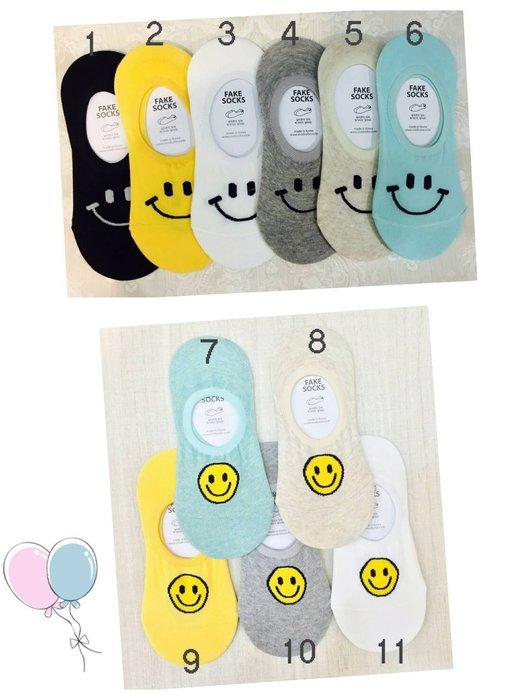 【傳說企業社】韓國空運 可愛笑臉襪子 微笑隱形襪 船型襪 女襪 短襪 素色簡約 流行百搭 運動襪 學生襪 兒童襪