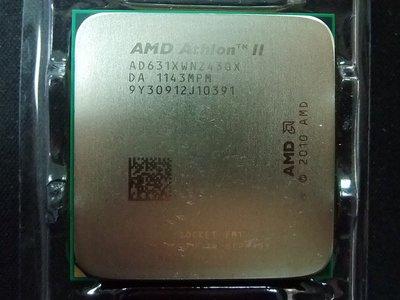 【含稅】AMD AthlonII X4 631 2.6G AD631XWNZ43GX四核四線 庫存正式散片FM1一年保
