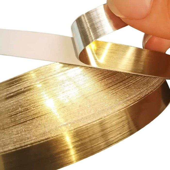 SX千貨鋪-背景墻衣柜美縫貼紙角貼金色地面防水自粘地板裝飾線條貼條耐磨