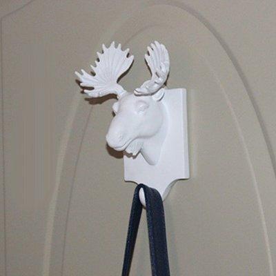 5Cgo【宅神】會員有優惠 42189024300 羚羊河馬鹿頭壁掛衣帽間廚房創意裝飾掛鉤 樹脂動物掛件 酒店KTV