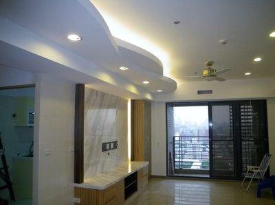 造型天花板矽酸鈣板每坪2950元起含施工木工/裝潢/室內設計/
