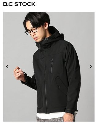 全新 日本帶回 B.C. STOCK INHERIT 外層防水 FLEECE 保暖外套 連帽外套 機能 黑色 M號
